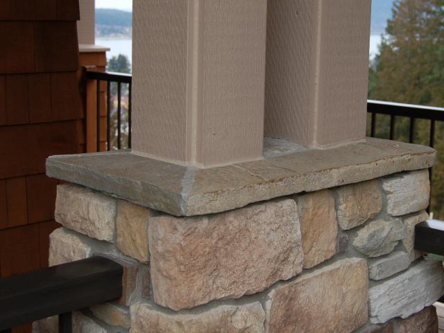 Natural Stone Pillars Caps : Lindsay residence raivo masonry